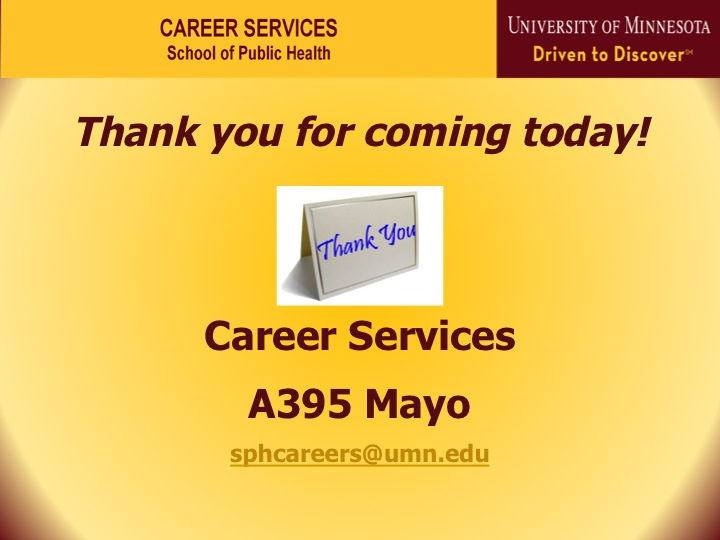 Career Services Orientation 2014